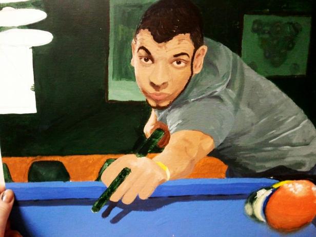 Acrylic on canvas. 11 x 14